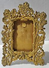 Antique Standing Desk Picture Frame Ornate Oak Leaf Design