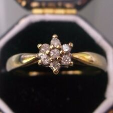 Women's 9ct Gold Diamond Stone Ring Weight 2g Size L 1/2 Stamped Quality