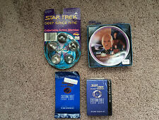 Vintage Lot Star Trek Items new In Pkg/ENESCO Mini Plate, DS9 marbles, card game