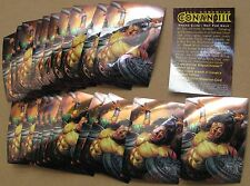 Conan III Chromium promo cards (22 of same card) 1995 Comic Images Savage Sword