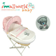 Personalised Pink Star And Fleece Me To You Tatty Teddy Moses Basket Cover Set