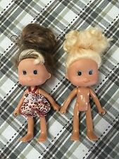 "Lot Of 2 Small Toddler Dolls 5"" GUC"
