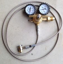 Shock Nitrogen regulator stainless line w/ no loss chuck 6 CHUCK FILL TOOL VALVE