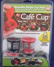 Cafe Cup Reusable Single Cup Pod  As Seen On TV  Brand New Fast Shipping !!