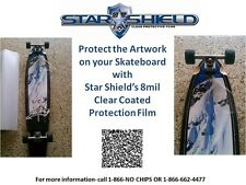 "*** WOW Skateboard Deck Protection Clear Tape 48"" x 12"" by Star Shield Solutions"