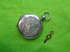 FULL HUNTER POCKET WATCH SILVER ANCRE 15 RUBIS CHAUX DE FONDS