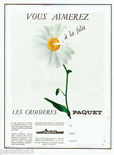 PUBLICITE ADVERTISING 096  1967  les croisières Paquet