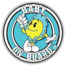 """Baby On Board Funny Sign Boy Car Bumper Window Locker Sticker Decal 4.5""""X4.5"""""""