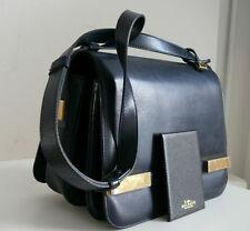 DELVAUX - sac en cuir marine, bandoulière + le miroir.