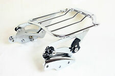Detachable AIRWING Luggage Rack & 4 four point for Harley Touring MODELS 09-13