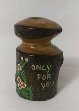 Vintage Handmade wood Office Desk Pen Pencil Holder