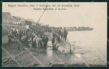 Reggio Calabria Città Terremoto 1908 cartolina XB0196