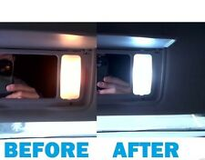 BMW E60 5 SERIES SUN VISOR VANITY MIRRORS LIGHTING UPGRADE