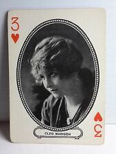 1916 CLEO MADISON Moriarty Movie Star Playing/Trading Card-FREE S&H(F1045)