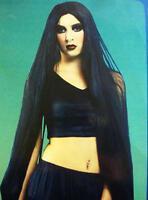"""Long Black Wig 40"""" In Length Morticia Halloween Fancy Dress"""