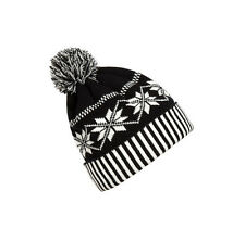 Women Men Snowflake Crochet Knitted Winter Warm Beanie Hat Ball Cap