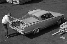 1965 Plymouth Barracuda rear three quarters loading lumber 8 x 10 Photograph