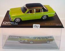 Opel Collection 1/43 Opel Admiral B grün 1969 - 1977 in Plexi Box #1263