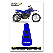 YAMAHA TTR 90 Blue/Black RIBBED SEAT COVER BY Enjoy Mfg