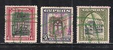 CYPRUS KGV 1934 41/2 & 9 & 18Pi USED AS REVENUE FISCAL DUTY STAMP FINE CONDITION