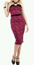 Vestido Collectif leopardo rosa 12. Collectif dress pink leopard size 12. Pinup.