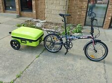 Origami folding bike trailer kit
