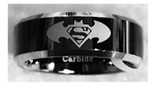 BATMAN vs SUPERMAN Two-Tone Tungsten Carbide Ring (Size 10)