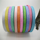 "NEW DIY 5yards 3/8 ""10mm glitter ribbons Bling for Bows and Wreaths decorated"