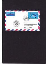 """Flugpost UNO Wien-Oslo """"10.12.2001""""Ersttagsstempel""""2""""Friedensnobelpreis,selten!"""