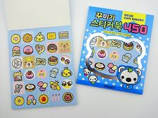 15 pages Korean kawaii cafe bakery sticker book! Cute sweets, donut, ice cream