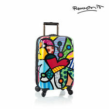 "Heys Romero Britto Luggage 21"" Carry On Butterfly Love Hardside Spinner TSA"