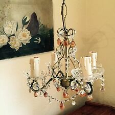 French Mid Century ANTIQUE VINTAGE Chandelier