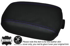 PURPLE STITCH LEATHER SKIN ARMREST LID COVER FITS KIA SPORTAGE 2010-2015