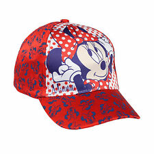 Girls Baseball Cap Summer Sun Hat Frozen Minions Minnie Mouse Age 2-10 Official