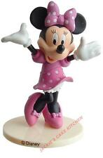 PLASTIC RUBBER MINNIE MOUSE BIRTHDAY CAKE TOPPER DECORATION 9cm HIGH
