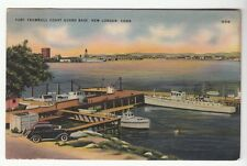 [54368] OLD POSTCARD FORT TRUMBULL COAST GUARD BASE IN NEW LONDON, CONNECTICUT