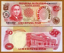 Philippines, 50 Piso 1978, Pick 165, UNC   Commemorative, Low S/Ns