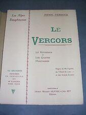 Les Alpes Dauphinoises Le Vercors Henri Ferrand 1904 illustré de nbrses gravures
