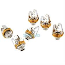 "6 Electric Guitar Socket Switchcraft 1/4"" Input Output Jack Replacement Parts #S"