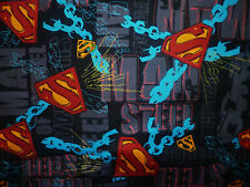 CLEARANCE FQ SUPERMAN MAN OF STEEL DC COMIC ACTION LOGO CHAINS FABRIC SUPERHERO
