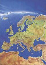 Poster Panoramakarte Europa Hochformat 97x137cm mit Beleistung #010112B