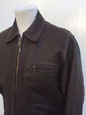W@W REDSKINS B32 MENS BOMBER JACKET - MEDIUM/LARGE BROWN CHUNKY LEATHER COAT 42R