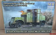 Master Box Commemorating 100th Anv Of WW1 British Armoured Car Austin MKIII 1:72