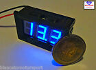 Voltimetro digitale 3-30V LED BLU [voltometro voltmeter kfz battery panel meter