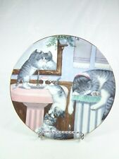 Vintage plate Mischief Makers Hamilton Collection Country Kittens Gre Gerardi