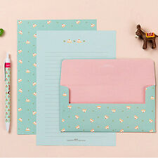 for girls Strawberry Cake Letter set - 4sh writing stationary paper 2sh envelope