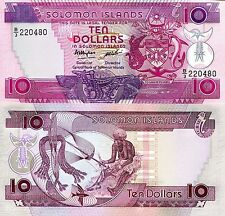 SOLOMON ISLANDS 10 Dollars Banknote World Paper Money UNC Currency Pick p-15