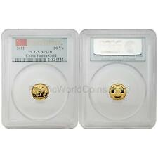 China 2012 Panda First Strike 1/20  oz Gold Coin PCGS MS70