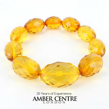 Faceted Yellow Genuine German Amber Bracelet W107 and RRP£495!!!