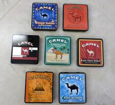 RARE VINTAGE OF SET 7 CAMEL EXOTIC BLENDS COLLECTION TINS Collectible Tobacco
